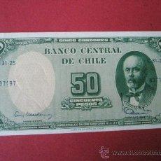 Billetes extranjeros: BILLETE DE CHILE-50 PESOS-1960?-NO DATADO--PLANCHA. Lote 35936858