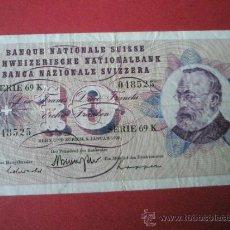 Billetes extranjeros: BILLETE DE SUIZA-10 FRANCS-5 ENERO 1970-.. Lote 35946724