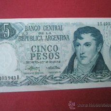 Billetes extranjeros: BILLETE DE ARGENTINA-5 PESOS-PLANCHA-. Lote 35948150