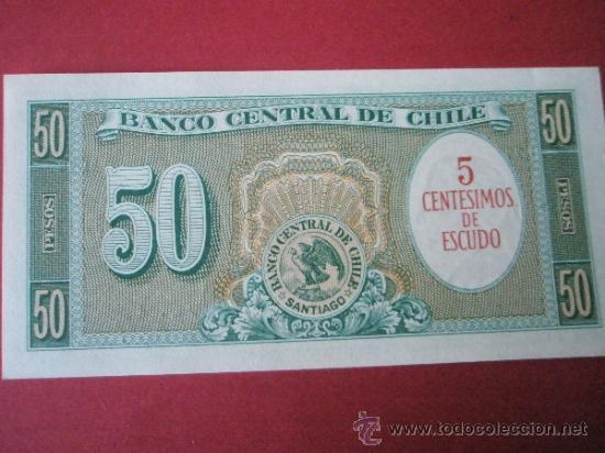 Billetes extranjeros: BILLETE DE CHILE-50 PESOS-1960?-NO DATADO--PLANCHA - Foto 3 - 35936858