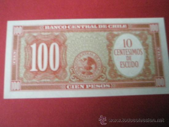 Billetes extranjeros: BILLETE DE CHILE-100 PESOS-1960?-NO DATADO--PLANCHA - Foto 2 - 35905503