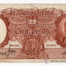 Billetes extranjeros: ARGENTINA. 100 PESOS. AÑO 1935.. Lote 36092160