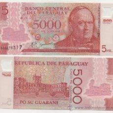 Billetes extranjeros: PARAGUAY 5000 GUARANIES 2011 PICK NUEVO SC. Lote 36768511