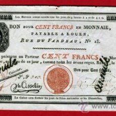 Billetes extranjeros: BILLETE FRANCIA , BONO 100 FRANCOS , CENT FRANCS , EBC- , ORIGINAL. Lote 36858902