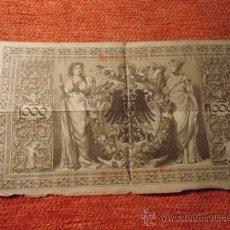 Billetes extranjeros: BILLETE REICHSBANTNOTE 1000 USADO , BERLIN 1910 ,. Lote 37890353