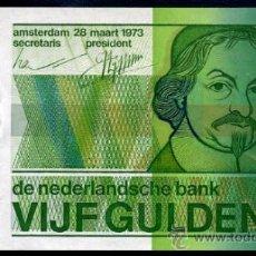 Billetes extranjeros: HOLANDA : 5 GULDEN (FLORINES) 1973 PICK 95 S/C. Lote 38394313
