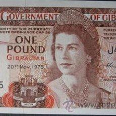 Billetes extranjeros: GIBRALTAR 1 LIBRA POUND 1975 P-20A SC PLANCHA. Lote 58608752