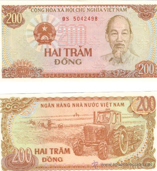 BILLETE VIETNAM 200 DONG 1987 SC (Numismática - Notafilia - Billetes Extranjeros)