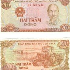 Billetes extranjeros: BILLETE VIETNAM 200 DONG 1987 SC. Lote 38464019