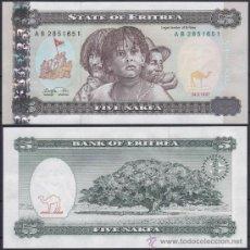 Banconote internazionali: ERITREA 5 NAKFA 1997 PICK 2 SC UNC. Lote 209524890