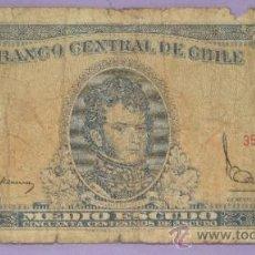 Billetes extranjeros: BILLETE DE CHILE. MEDIO 1/2 ESCUDO. 353750. . Lote 38865647