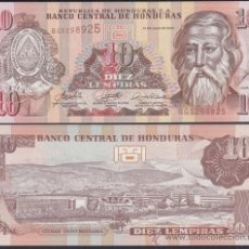 Notas Internacionais: HONDURAS 10 LEMPIRAS 13.7. 2006 PICK 86D SC UNC. Lote 221340255