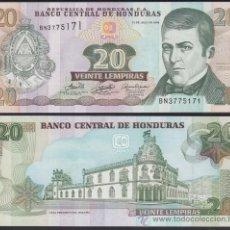 Banconote internazionali: HONDURAS 20 LEMPIRAS 13.7. 2006 PICK 93A SC UNC. Lote 243341465