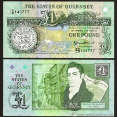 Billetes extranjeros: GUERNSEY. CONMEMORATIVO 1 POUND S/F(2013). S/C. THOMAS DE LA RUE EN EL REVERSO.. Lote 118596970