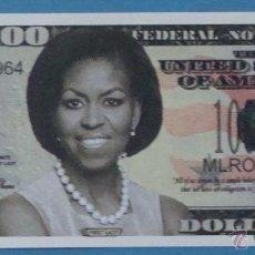 Billetes extranjeros: BILLETE EEUU CONMEMORATIVO. DÓLAR. MICHELLE OBAMA. POLÍTICO ESTADOS UNIDOS. DÓLARES. PERFECTO. . Lote 155896261