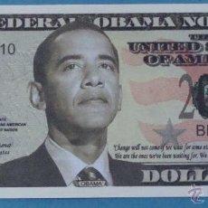 Billetes extranjeros: BILLETE EEUU CONMEMORATIVO. DÓLAR. BARACK OBAMA. POLÍTICO ESTADOS UNIDOS. DÓLARES. PERFECTO. . Lote 39335523
