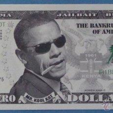Billetes extranjeros: BILLETE EEUU CONMEMORATIVO. DÓLAR. BARACK OBAMA. POLÍTICO ESTADOS UNIDOS. DÓLARES. PERFECTO. . Lote 39335540