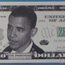 Billetes extranjeros: BILLETE EEUU CONMEMORATIVO. DÓLAR. BARACK OBAMA. POLÍTICO ESTADOS UNIDOS. DÓLARES. PERFECTO. . Lote 39335543