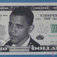 Billetes extranjeros: BILLETE EEUU CONMEMORATIVO. DÓLAR. BARACK OBAMA. POLÍTICO ESTADOS UNIDOS. DÓLARES. PERFECTO. . Lote 147478829