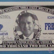 Billetes extranjeros: BILLETE EEUU CONMEMORATIVO. DÓLAR. GEORGE BUSH OPERACIÓN LIBERTAD DURADERA. DÓLARES. PERFECTO. . Lote 39335622