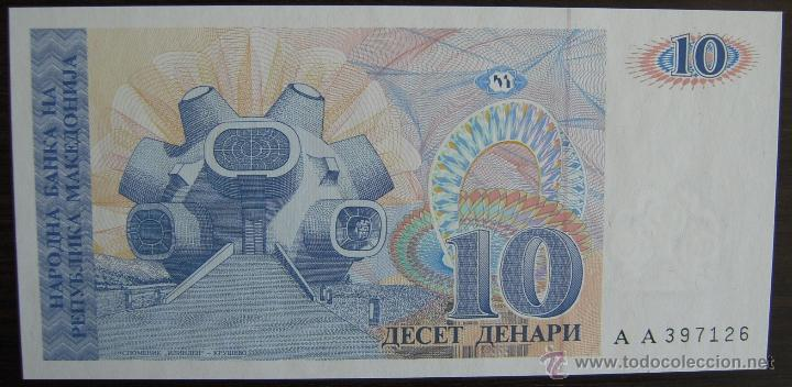 Billetes extranjeros: BILLETE DE MACEDONIA: 10 DENARI DE 1993 PLANCHA - Foto 1 - 39389222