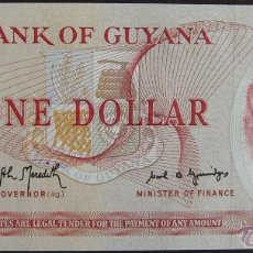 Billetes extranjeros: BILLETE DE GUYANA: 1 DOLLAR DE 1989 PLANCHA. Lote 39389824