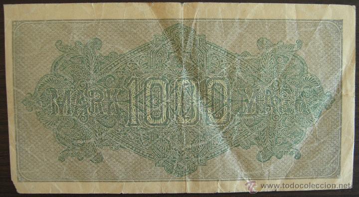 Billetes extranjeros: BILLETE DE ALEMANIA: 1000 MARCOS DE 1922 BERLIN RC - Foto 2 - 39388457