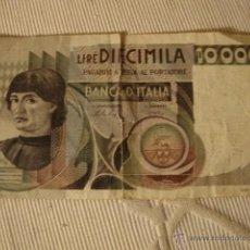 Billetes extranjeros: ANTIGUO BILLETE ITALIA 10000 LIRAS. Lote 39457749