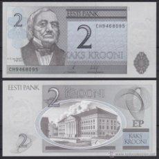 Notas Internacionais: ESTONIA 2 KROONI 2007 PICK 85B SC UNC. Lote 253144730