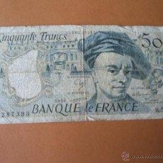 Billetes extranjeros: BILLETE DE FRANCIA-50 FRANCOS-1988-S/S 287393-.. Lote 35831945