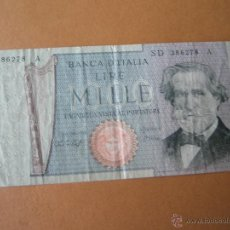 Billetes extranjeros: BILLETE DE ITALIA-1000 LIRAS-MILLE LIRE-1979/1969-G.VERDI-SD386278A-.. Lote 35898970