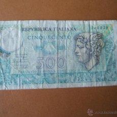 Billetes extranjeros: BILLETE DE ITALIA-500 LIRAS-CINQUECENTO LIRE--1979-140828-SEÑALES DE USO-.. Lote 35939025
