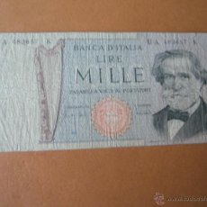 Billetes extranjeros: BILLETE DE ITALIA-1000 LIRAS-MILLE LIRE--1969-UA483657-.. Lote 36028262