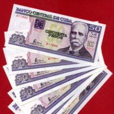 Billetes extranjeros: 1 BILLETE 50 PESOS CUBA 2002 , PLANCHA SIN CIRCULAR , ORIGINAL. Lote 248616035