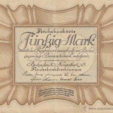 Billetes extranjeros: BILLETE ALEMAN DE 50 MARKOS DE 1918. Lote 40186336