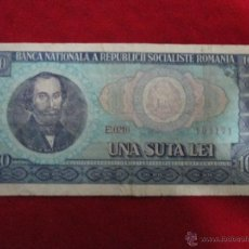 Billetes extranjeros: 100 LEI RUMANIA BC. Lote 40430149