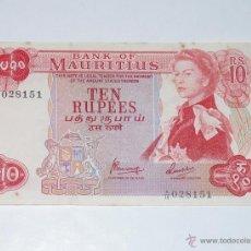 Billetes extranjeros - MAURITIUS. ISLA MAURICIO. 1967 S/F. 10 RUPIAS DIEZ, BILLETE - 40545473