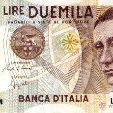 Billetes extranjeros: BILLETE ITALIANO DE 2000 LIRE DUEMILA - BANCA D'ITALIA. Lote 40753589