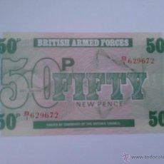 Billetes extranjeros: BILLETE FUERZAS ARMADAS BRITÁNICAS. 50 PENIQUES. 1972. REINO UNIDO. 6ª SERIE. Lote 40874251