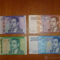 Billetes extranjeros: MARRUECOS. SERIE COMPLETA DE BILLETES DE 2013. 20, 50, 100 Y 200 DIRHAMS S/C. Lote 116506991