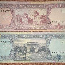 Billetes extranjeros: AFGANISTÁN LOTE 2 BILLETES: 1 Y 2 AFGANIS SC. Lote 176671198