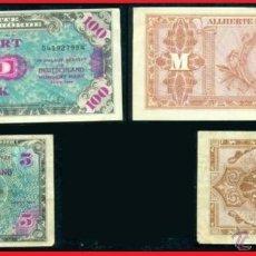 Billetes extranjeros: 2 INTERESANTES BILLETES DE 5 Y 100 MARCOS ALEMANIA 1944 MUY MUY ESCASOS Y DIFICILES DE ENCONTRAR. Lote 41352162