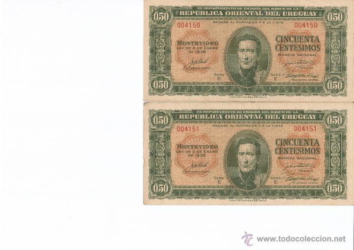 URUGUAY SERIE 13 BILLETES 1939 50 CENTESIMOS VER DETALLE SC (Numismática - Notafilia - Billetes Extranjeros)