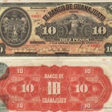 Billetes extranjeros: MEXICO GUANAJUATO 10 PESOS 1914 SC VER DETALLE. Lote 42105222