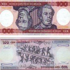 Billetes extranjeros: BRASIL 100 CRUZEIROS 1981 P-198A SC PLANCHA. Lote 49313933