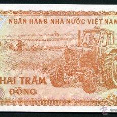 Billetes extranjeros: VIET NAM 200 DONG 1987 SC ( TRACTOR Y AGRICULTORES COSECHANDO EN EL CAMPO ). Lote 181350040
