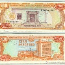 Billetes extranjeros: REPUBLICA DOMINICANA 100 PESOS ORO 1985 1987 P-122 S2 SPECIMEN ESPECIMEN SC. Lote 42609665