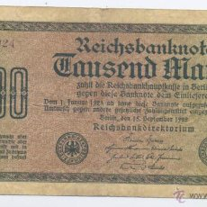 Billetes extranjeros: ALEMANIA- 1000 MARCOS- 1922. Lote 51686131