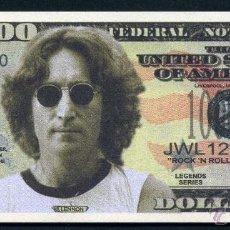 Billetes extranjeros: BILLETE DE 1 MILLON DE DOLARES - LOS BEATLES HOMENAJE A ( JHON LENNON ) Nº6. Lote 143123460
