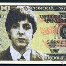 Billetes extranjeros: BILLETE DE 1 MILLON DE DOLARES - LOS BEATLES HOMENAJE A ( PAUL MCCARTNEY ) Nº2. Lote 143123466